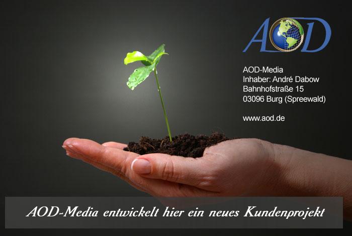AOD Media entwickelt hier ein neues Kundenprojekt